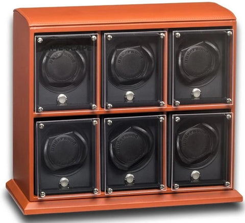 UNDERWOOD (LONDON) - EvO Leather 6-Unit Watch Winder | UN9004/TAN