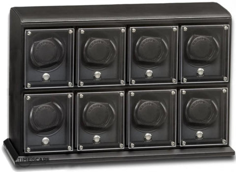 UNDERWOOD (LONDON) - EvO Leather 8-Unit Watch Winder | UN9006/BLK