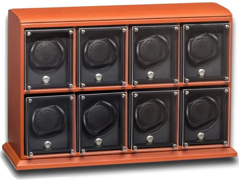 UNDERWOOD (LONDON) - EvO Leather 8-Unit Watch Winder | UN9006/TAN