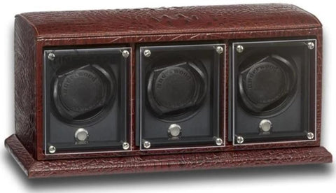 UNDERWOOD (LONDON) - EvO Croco 3-Unit Watch Winder | UN9007/CBRW