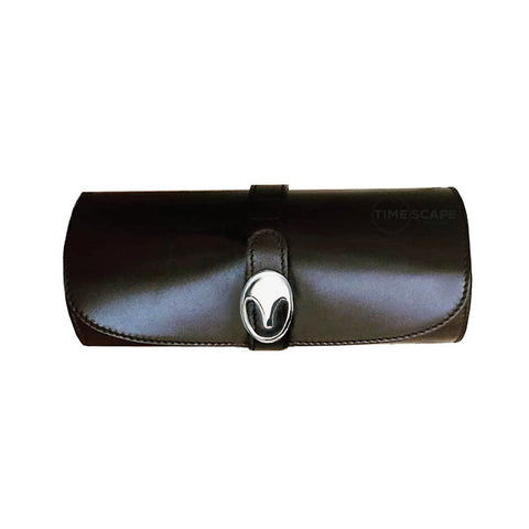 UNDERWOOD (LONDON) - Medium Leather Watch Roll | UN204/BLK