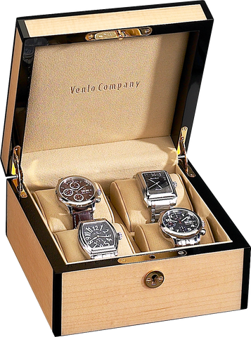 Venlo - 4 Watch Storage Case | Blonde