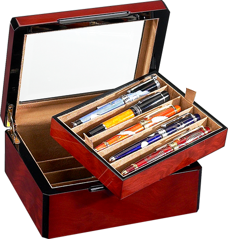 Venlo - 10 Pen Storage Case | Burlwood