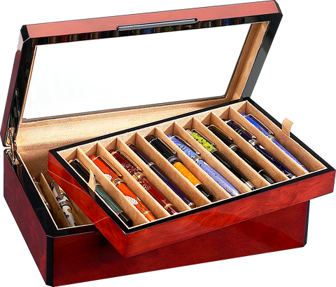 Venlo - 20 Pen Storage Case | Burlwood