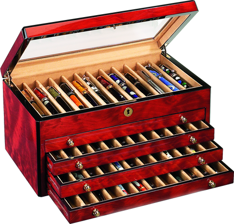 Venlo - 60 Pen Storage Case | Burlwood