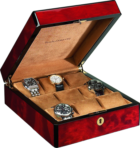 Venlo - 9 Watch Storage Case | Burlwood