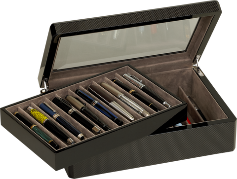 Venlo - 20 Pen Storage Case | Carbon Fiber
