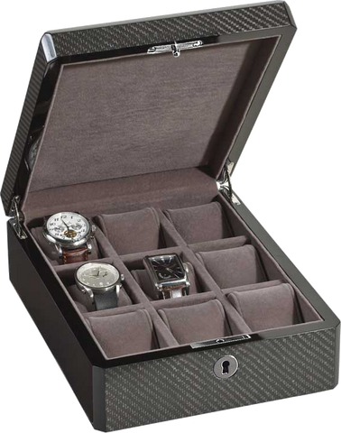 Venlo - 9 Watch Storage Case | Carbon Fiber