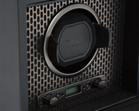 Wolf - Axis Single Watch Winder w storage | 469203