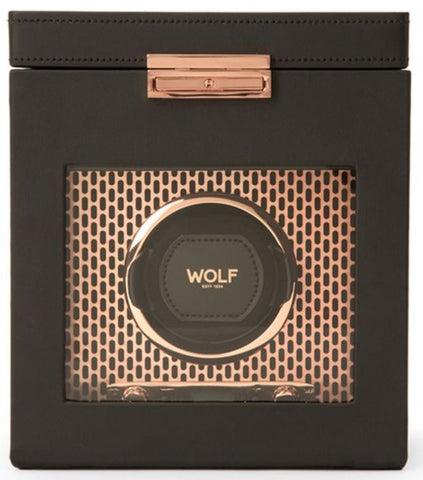 Wolf - Axis Single Watch Winder w storage | 469216
