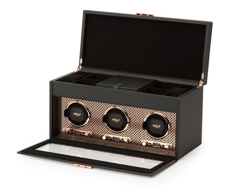 Wolf - Axis Triple Watch Winder w storage | 469416
