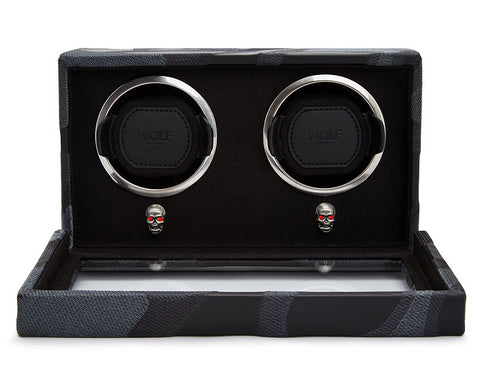 Wolf - Memento Mori Double Watch Winder | 493202