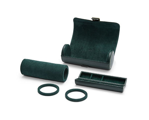 Wolf - British Racing Green Triple Watch Roll | 792941