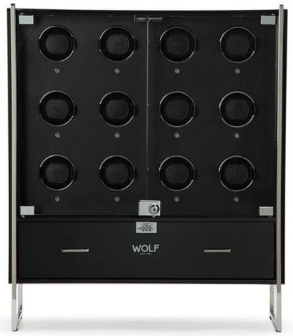 Wolf - 1834 Regent Watch Winder Cabinet In Piano Black | 468070
