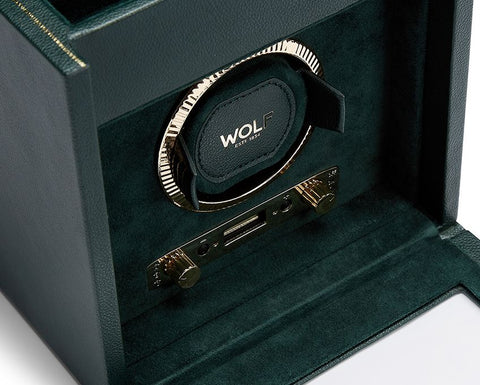 Wolf - British Racing Green Single Winder w Storage | 792141