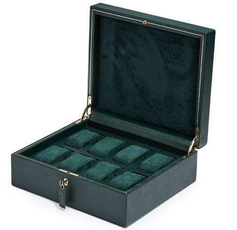Wolf - British Racing Green 8-Unit Watch Box | 792641