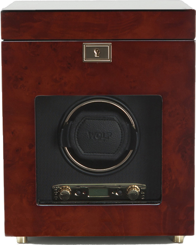 Wolf - Savoy Single Watch Winder w Storage | 454510