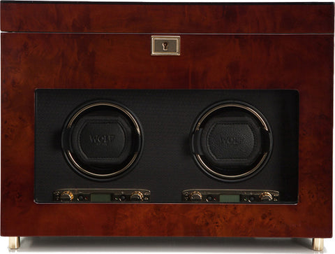 Wolf - Savoy Double Watch Winder w Storage | 454610