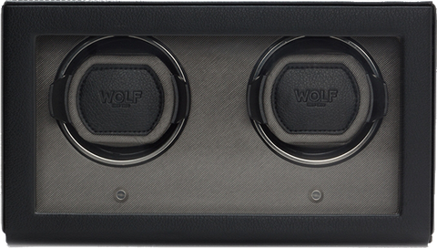 Wolf - Cub Double Watch Winder w Cover | 461203