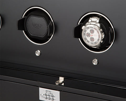 Wolf - 1834 Baron Watch Winder Cabinet In Piano Black | 468170