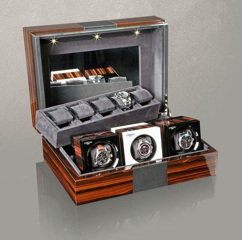 Chronovision - Collector Box | Ziricote Hi-Gloss / Leather