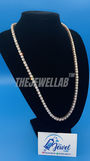 Rose Gold Tennis Necklace 5MM 24""