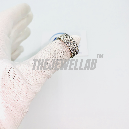 Stainless Steel Iced Out-Gaff Ring