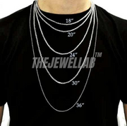 "4MM Triangle Tennis Necklace (Choker) 16"" Lab CZ Diamonds"