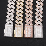 20MM Baguette Set Cuban Link Bracelet ( Premium Collection )