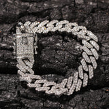 12MM S-Link Lab CZ Diamond Bracelet (SILVER)
