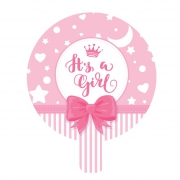 "It's a Girl 9"" Foil Balloon"