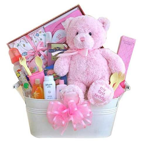 'Baby Girl' 1st Gift Bucket