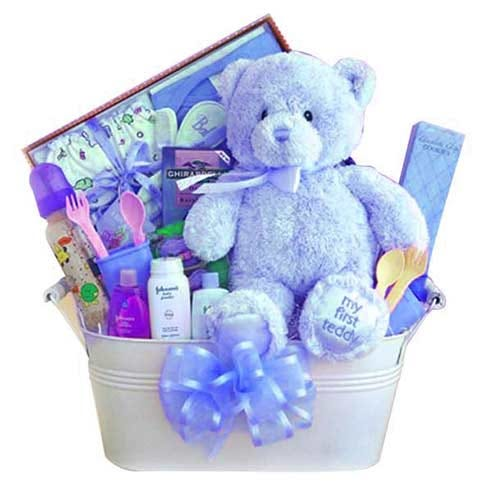'Baby Boy' 1st Gift Bucket