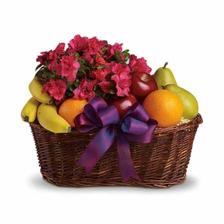 'Flowers & Fruit' Gift Basket