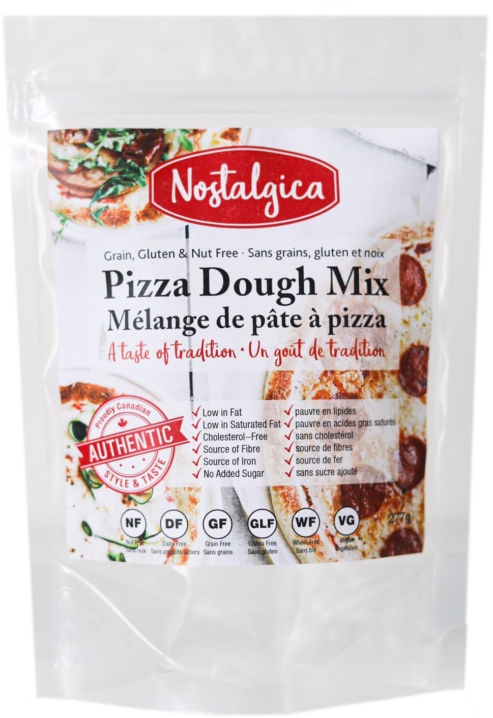 Grain, Gluten and Nut Free Pizza Dough Mix