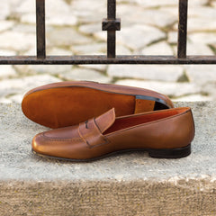 Gowon Brown Painted Calf Leather Loafer
