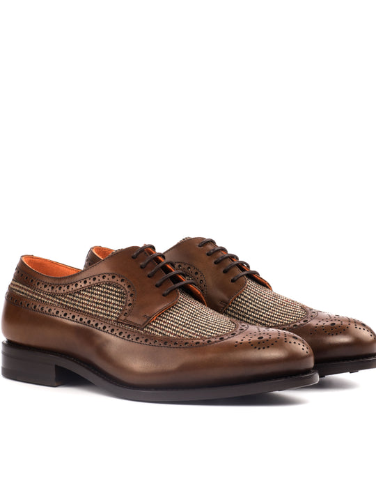 Pompei Tweed Sartorial Longwing Blucher Shoe