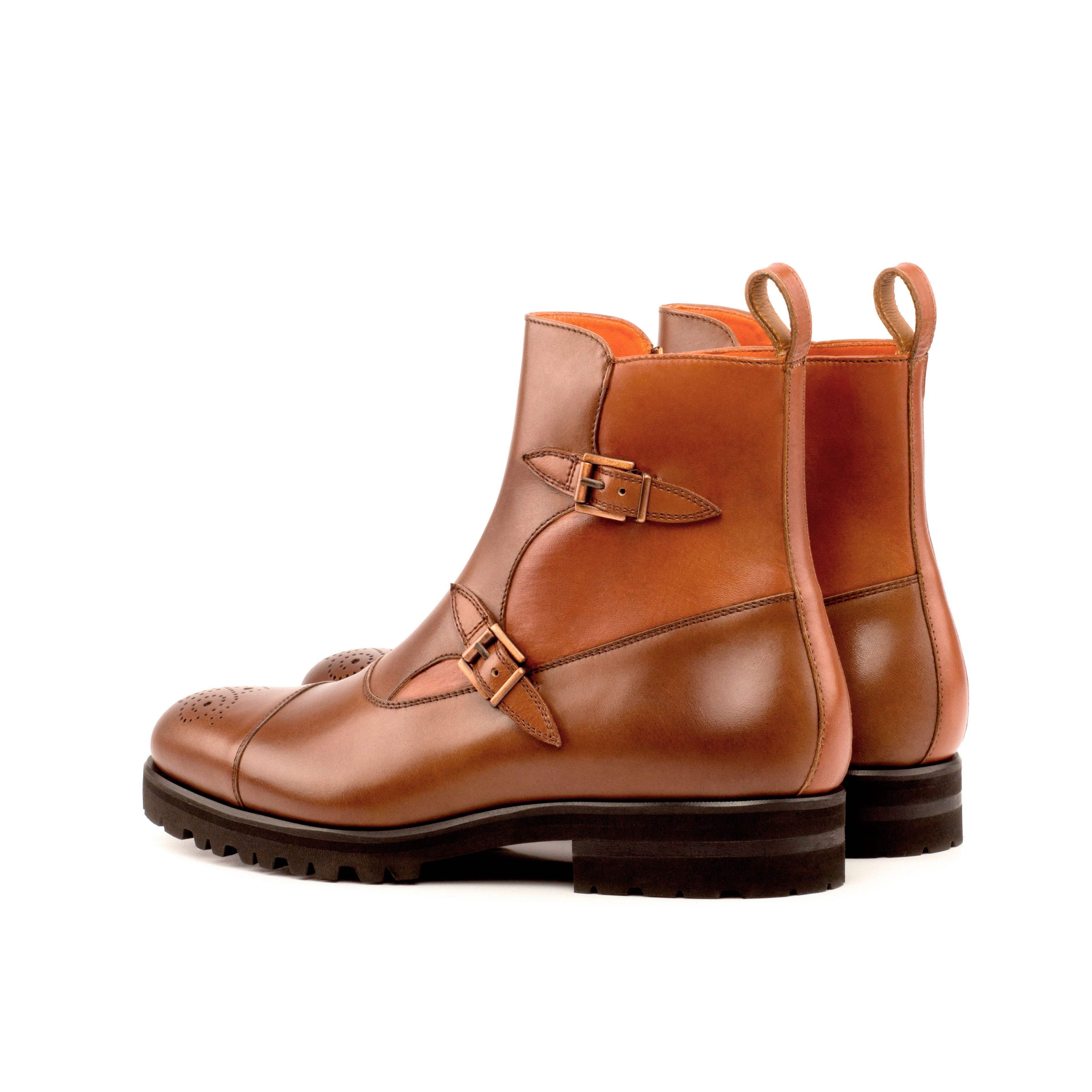 Tyler Cognac Box and Painted Calf Leather Octavian Boot