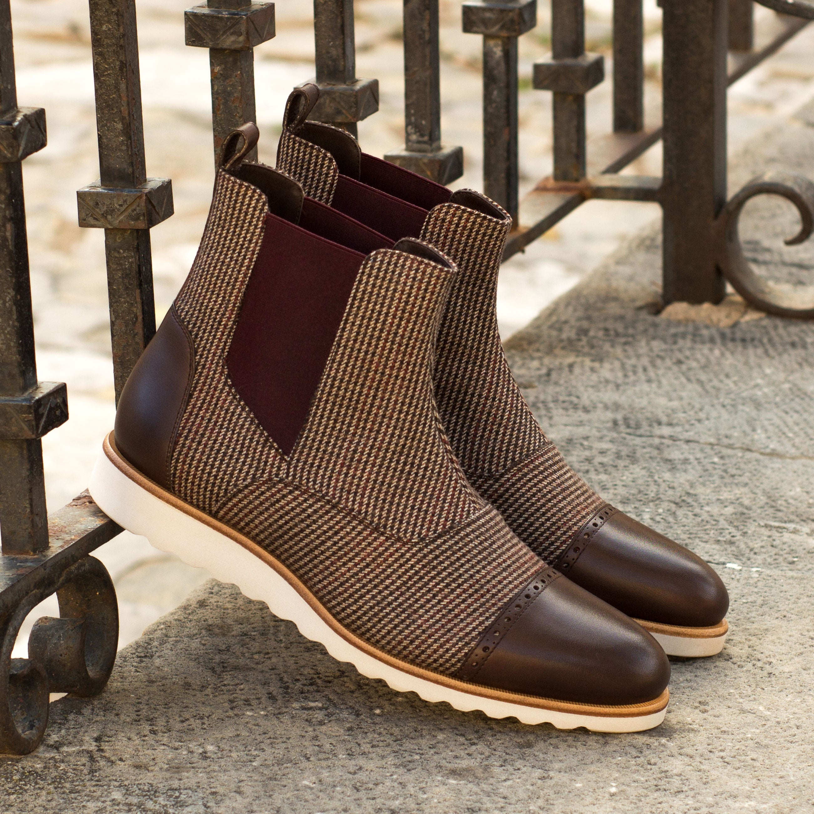 Wessex Sartorial and Dark Brown Chelsea Boot