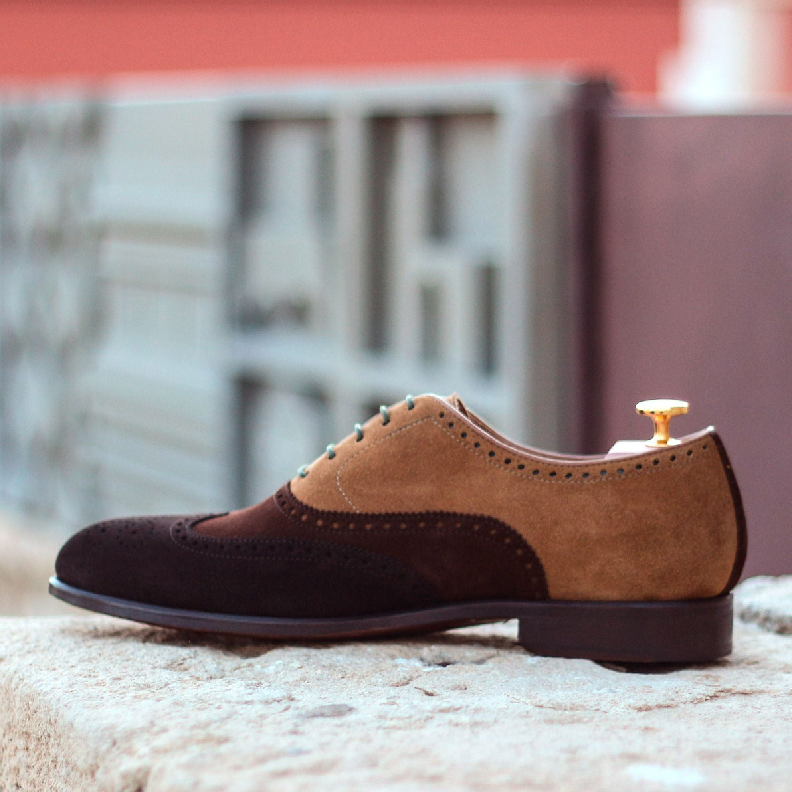 Bank Multi Suede Full Brogue Shoe