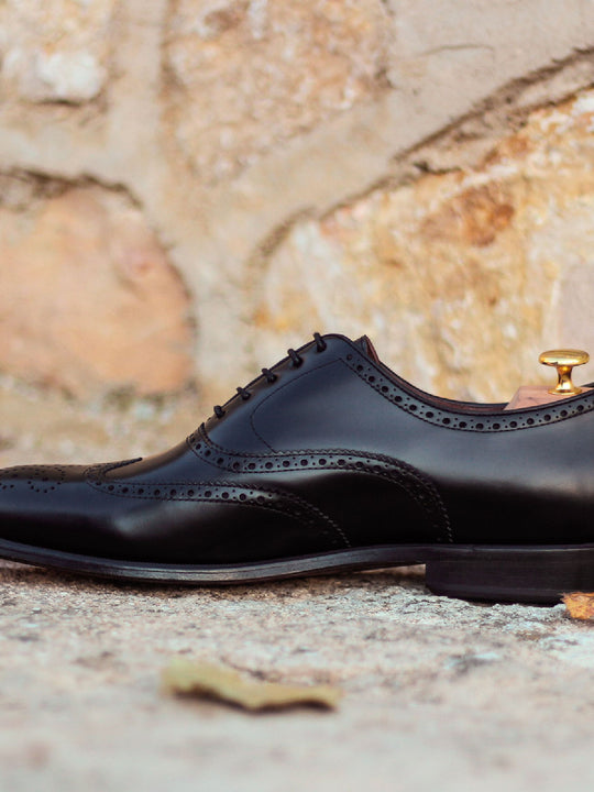 Goodie Black Full Brogue Shoe
