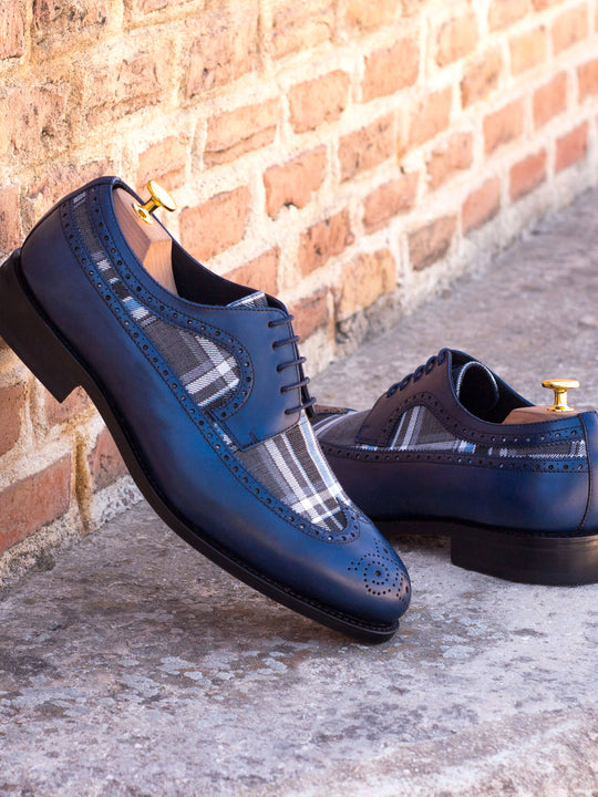 Henry Plaid Sartorial Longwing Blucher Shoe