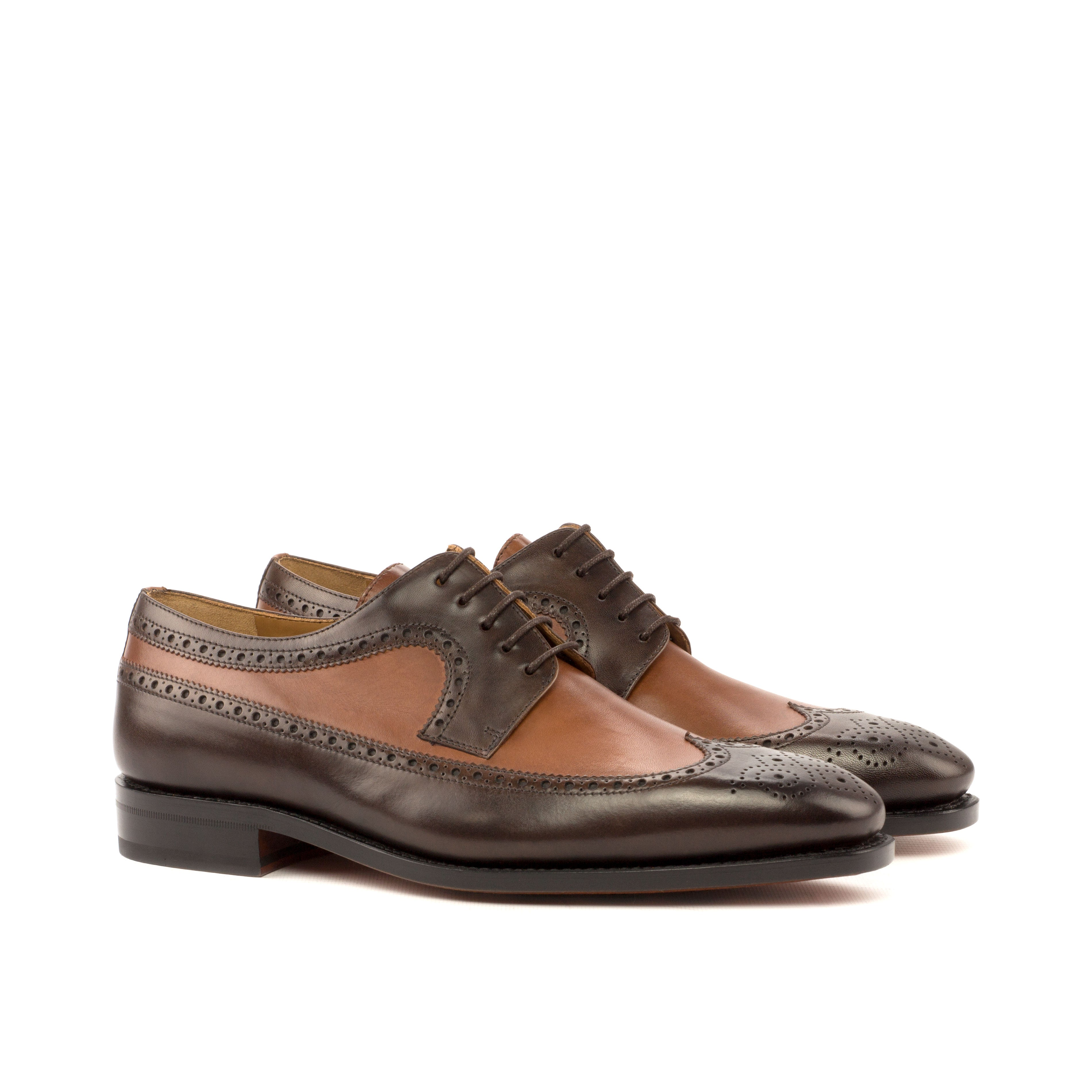 Louis Painted Leather Longwing Blucher Shoe