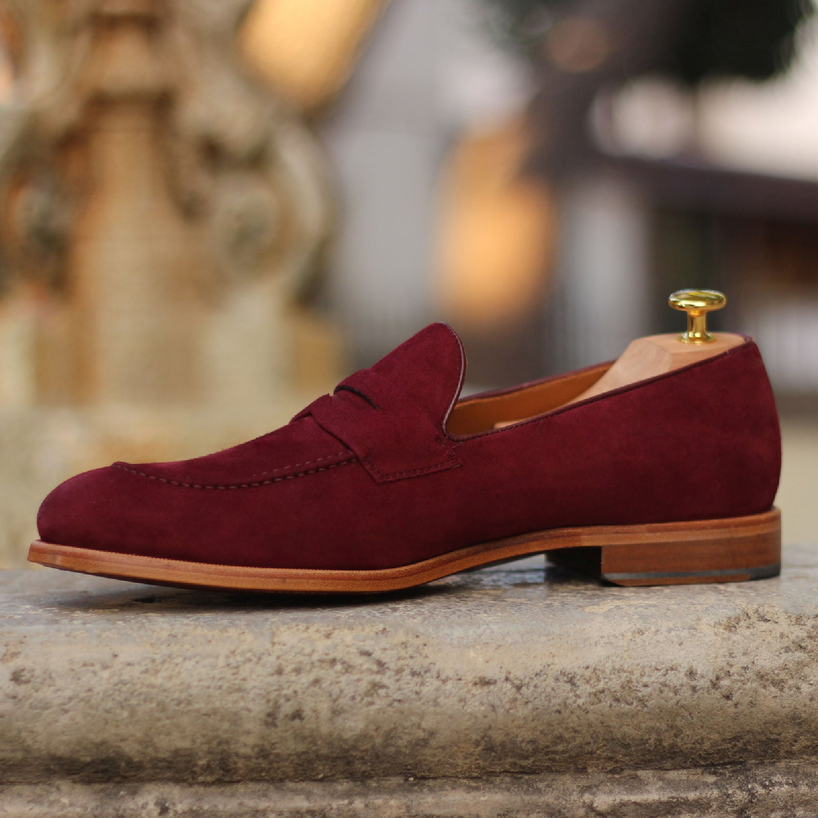 Red Wine Suede Loafer