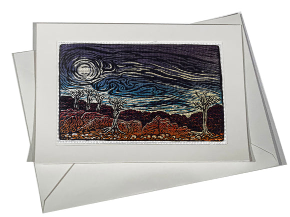 Angry Skies Mosaic Art Card Southwest Landscape Storm Wind
