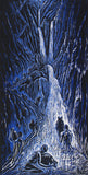 Water Bearers Surreal Waterfall Figures River Canyon Color Fine Art Print