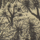 Woodblock Print Joshua Forest Southwest Desert Landscape Woodcut on Japanese Mulberry Paper
