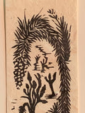 Joshua Tree Small Original Woodcut from Desert Trees Landscape Collection