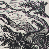 Original Woodblock Print High Desert Landscape Bristlecone Pine Mountain Sierra Very Limited Artist Proof Edition