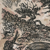 Bristlecone Pine Ancient Trees Fine Art Print Woodcut High Mountain